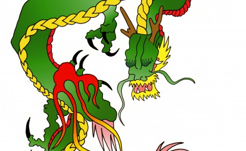 Dragon Tattoo Colour