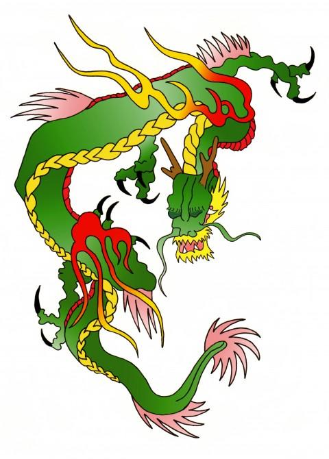 Dragon Tattoo Colour