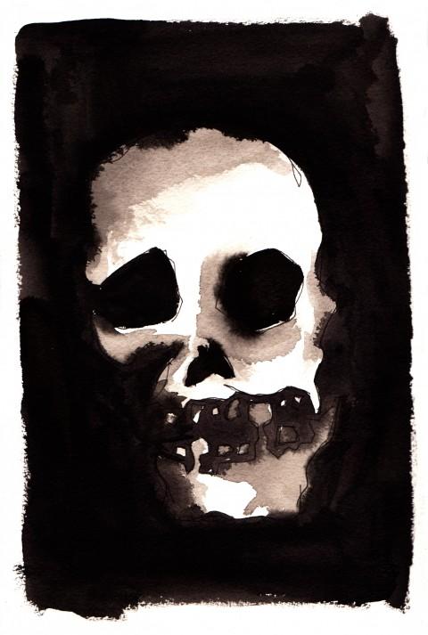 Skull Black Ink