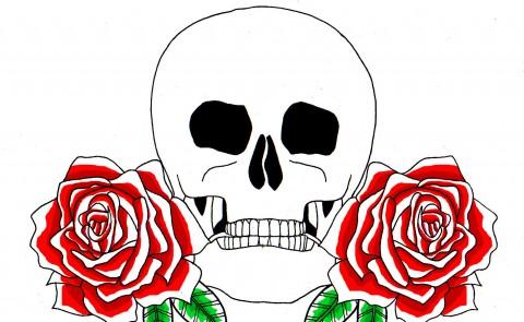 Skull & Roses Colour
