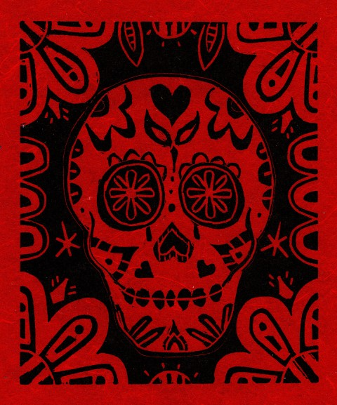 Skull Red and Black
